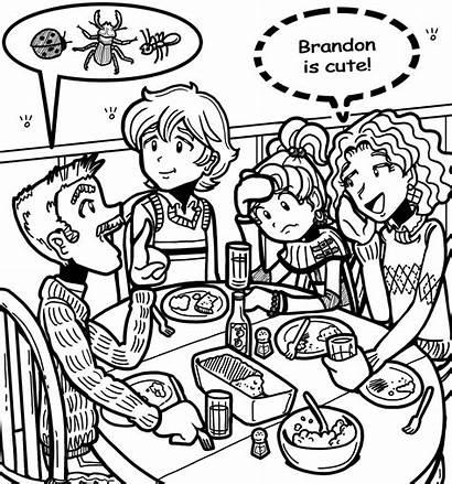 Brandon Coloring Dork Diaries Pages Nikki Dinner
