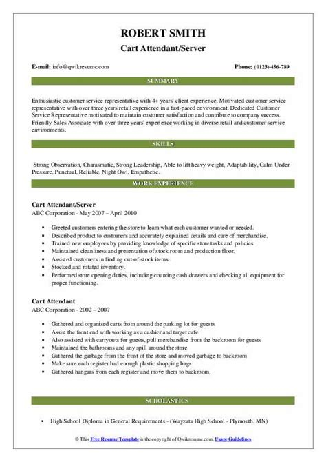 Resumé Sles by Cart Pusher Description For Resume The Best Cart In Word