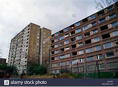 1970s high rise housing undergoing phased demolition as