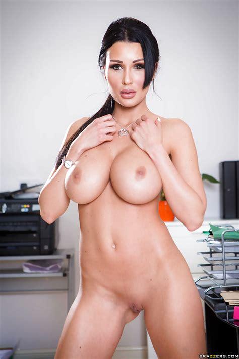 Buxom Brunette Office Babe Patty Michova Flaunting Sexy