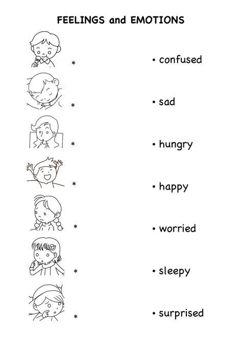 worksheets  emotion  feelings  kids english te