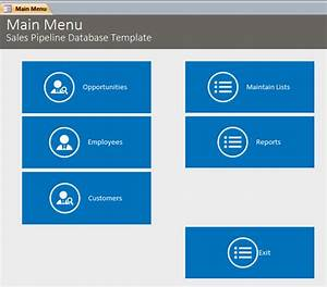 Microsoft access sales pipeline database template for Microsoft access sales database template