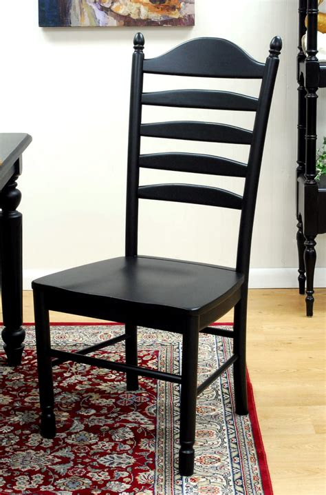 wood dining chair black in dining chairs
