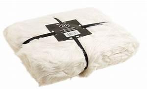 Plaid Fourrure Blanc : plaid imitation fourrure blanc blanc ~ Nature-et-papiers.com Idées de Décoration