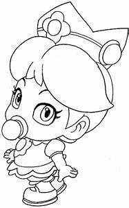 Daisy Peach Coloring Pages Printable | freecoloring4u.com