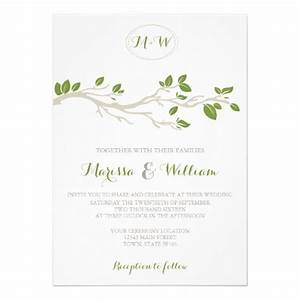 elegant tree branch green beige wedding invitation trees With wedding invitations with trees branches