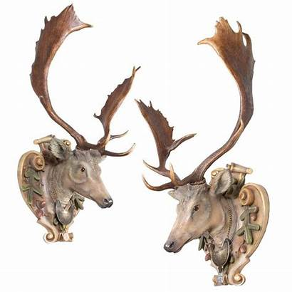 Deer Fallow Carved Hand Castle Carving Antlers