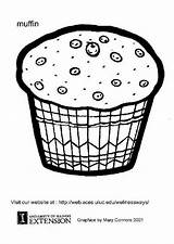 Muffin Coloring Pages Muffins Template Edupics Printable Sheets Colouring Cupcake Cartoon sketch template