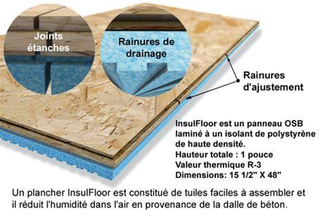 isolant et drainage des planchers de sous sols existants