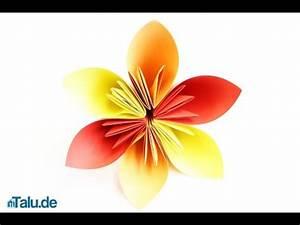 Einfache Papierblume Basteln : origami blume falten faltanleitung papierblume basteln youtube ~ Eleganceandgraceweddings.com Haus und Dekorationen