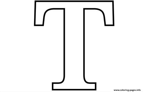 Letter T Free Alphabet 6580 Coloring Pages Printable
