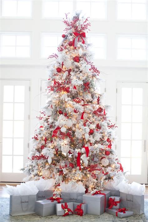 26 best flocked christmas tree décor ideas digsdigs