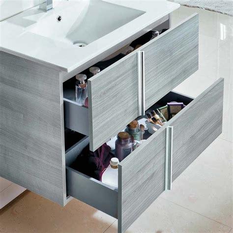 meuble salle de bain 100 cm 2 tiroirs plan vasque c 233 ramique onix