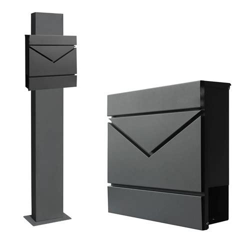 briefkasten freistehend anthrazit edelstahl briefkasten set standbriefkasten st 228 nder