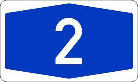 Bundesautobahn 2 Number.svg