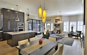 Kitchen Living Room Open Concept Images Small Area Modern House  U2013 Modern House