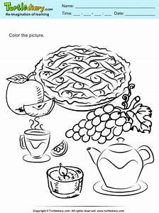 Thanksgiving Pie Coloring Sheet | Turtle Diary