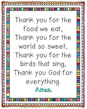 the food we eat poster prayer grace blessings meals 111 | f533598b00b03e05ecf23af8c2c71ffe