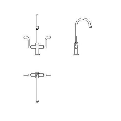 cuisine autocad kitchen tap set 2d cad dwg cadblocksfree cad blocks free