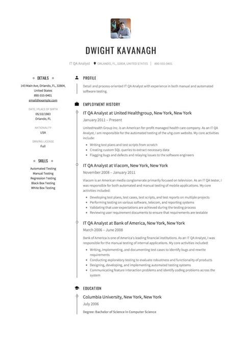 qa analyst resume guide  templates