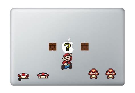 mario and macbook decals