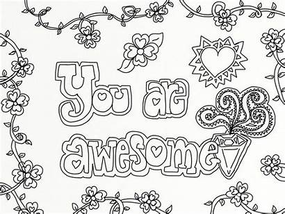 Coloring Positive Affirmation Quotes Affirmations Adults Valentine