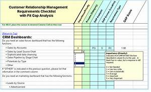 crm software requirements checklist fit gap analysis With crm requirements template