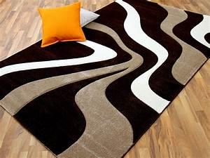 Teppich Braun Grün : designer teppich maui braun beige wellen teppiche designerteppiche ~ Whattoseeinmadrid.com Haus und Dekorationen
