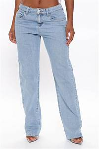 Low Rider Slouch Fit Jeans Light Blue Wash Jeans