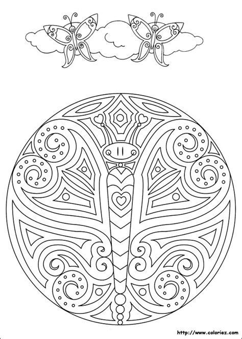 Mandalas Papillon (mandalas)  Coloriages à Imprimer