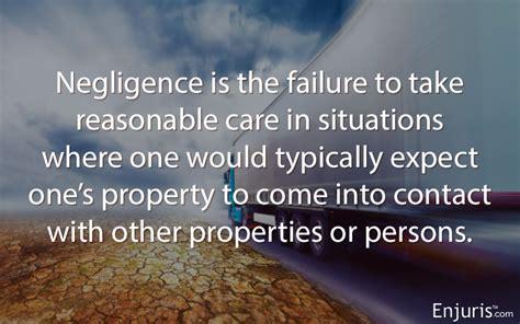 proving negligence requires  criteria