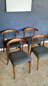 Vintage, Ground, Set, Of, Four, Mid, Century, Danish, Modern, Dining, Chairs