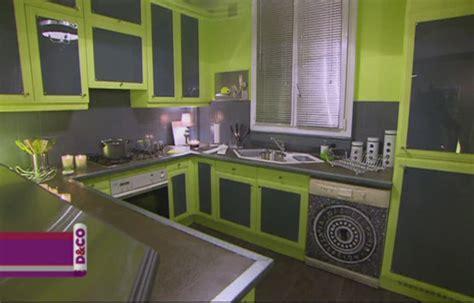 cuisine verte et grise deco cuisine vert anis et gris