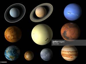 Planets Of The Solar System Including Pluto Stock Photo ...