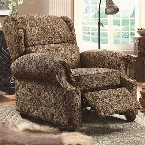 Fabric Reclining Chairs by Brown Fabric Reclining Chair A Sofa Furniture