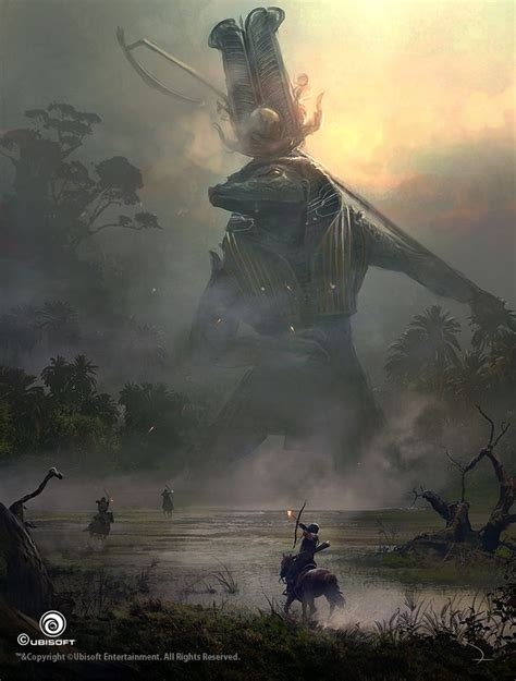 assassins creed origins giant god sobek concept art