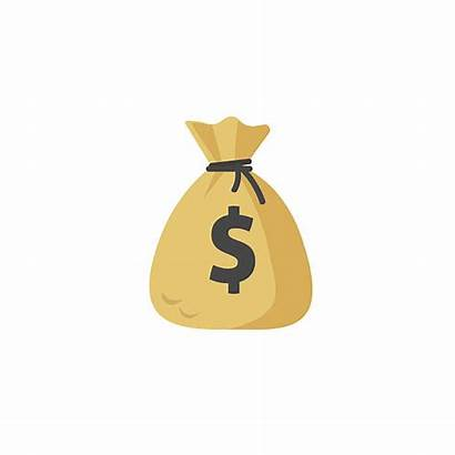 Money Bag Cartoon Vector Moneybag Illustration Flat