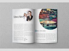 Circle Magazine Template on Behance