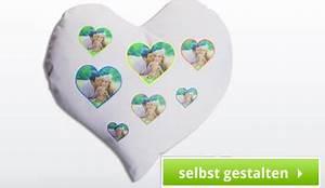 Herzkissen Mit Foto : kissen bedrucken lassen fotokissen selber gestalten ~ Watch28wear.com Haus und Dekorationen