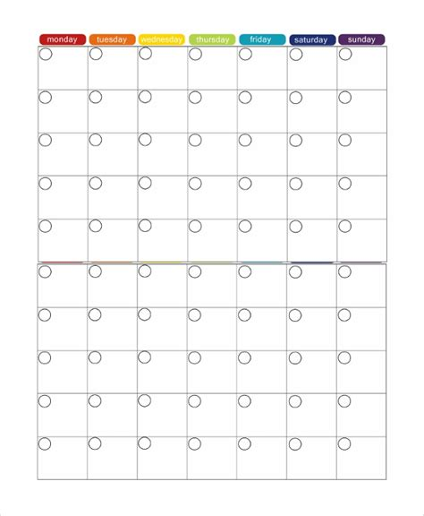 sample monthly timetable template documents