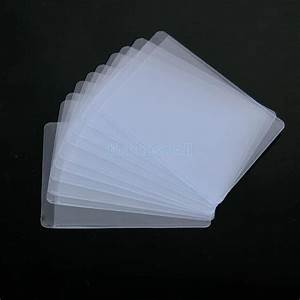 10pcs soft plastic clear credit card sleeves protectors for Plastic business card sleeve
