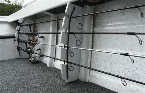 fishing pole storage rack diy fishing boat rod storage rack
