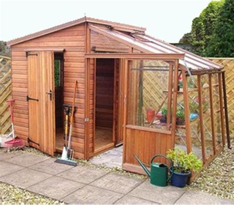 garden retreat quality combination shed greenhouse deliv