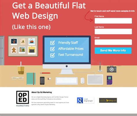 web design landing page my one simple copywriting tip for success