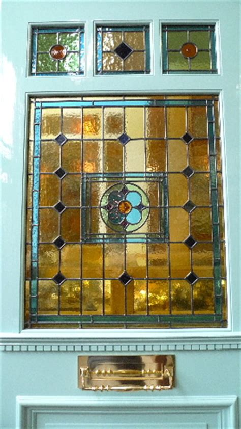 edwardian style    panel stained glass front door stained glass doors company