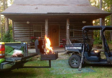 buck stove charcoal grill   trailer hitch mount wood