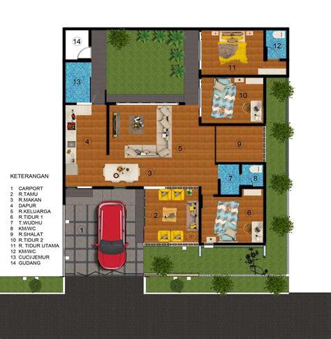 desain terbaru denah rumah minimalis sederhana  kamar