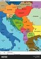 Former Yugoslavia with Countries, Names Stock Vector ...