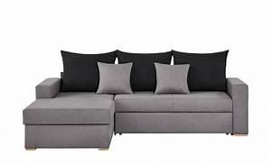 Couch 2 Meter Breit : smart ecksofa grau maisgelb flachgewebe anna grau schwarz links ~ Watch28wear.com Haus und Dekorationen