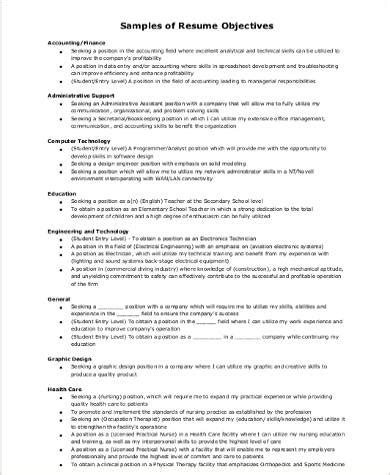 sle resume career objective 8 exles in word pdf
